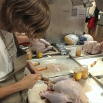 Prepping and injecting the turkeys the night before